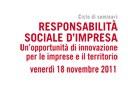 Responsabilità sociale di impresa - Un'opportunità di innovazione per le imprese e il territorio