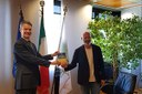 Il presidente Bonaccini riceve il console generale Usa Benjamin Wohlauer